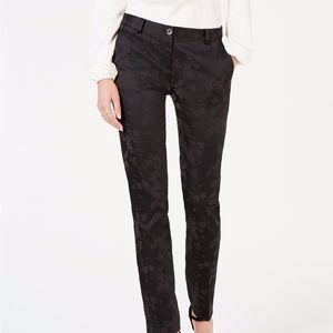 NEW Michael Kors Black Flocked Print Miranda Pants